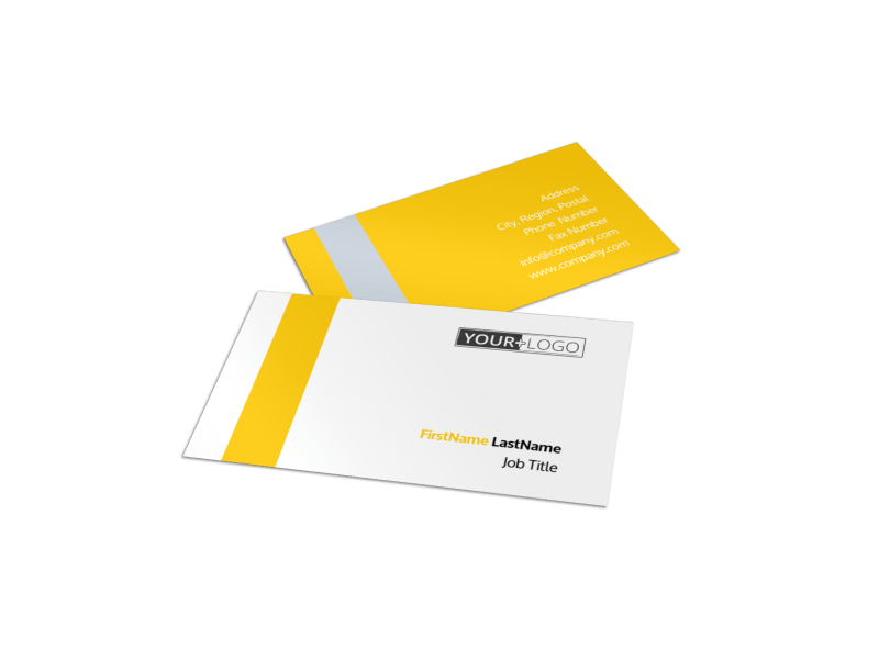 Electrician Business Card Template Preview 1