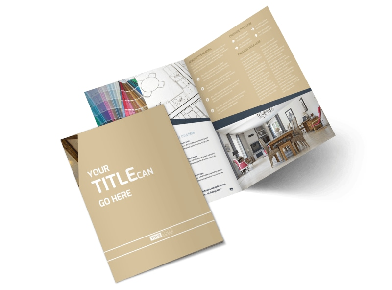 Interior Design Bi-Fold Brochure Template 2