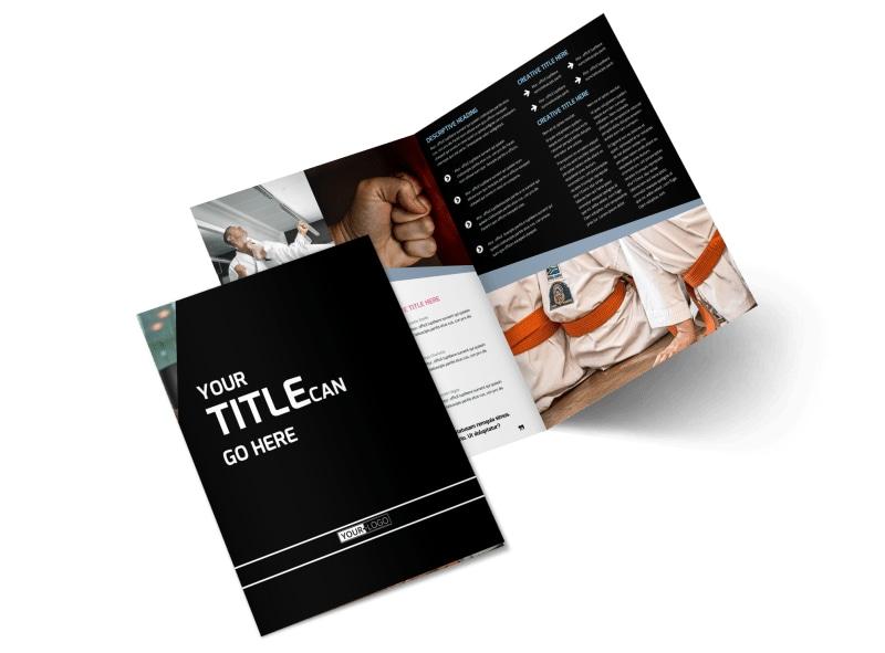 Martial Arts Bi-Fold Brochure Template 2