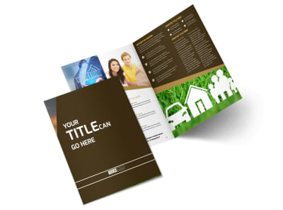 Insurance Agency Bi-Fold Brochure Template 2 preview