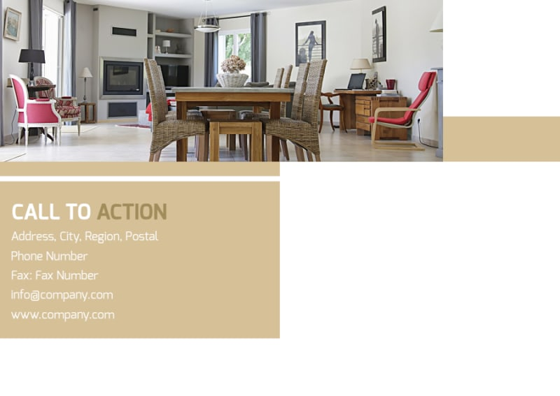 Interior Design Postcard Template Preview 3