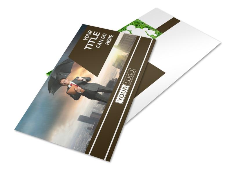 Insurance Agency Postcard Template 2