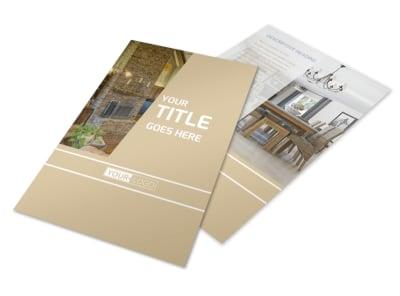 Interior Design Flyer Template – Interior Design Brochure Template