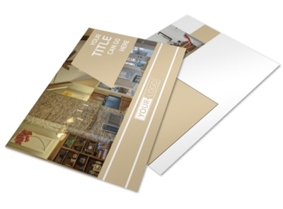 Interior Design Postcard Template preview