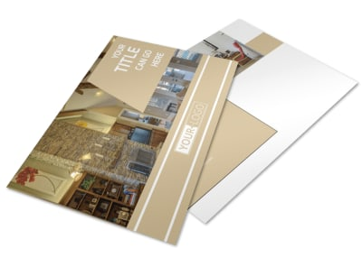 Interior Design Postcard Template preview