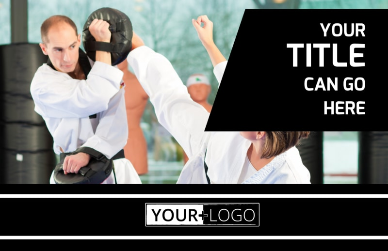 Martial Arts Postcard Template Preview 2