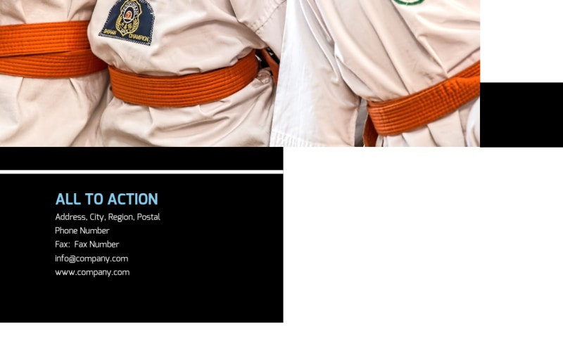Martial Arts Postcard Template Preview 3