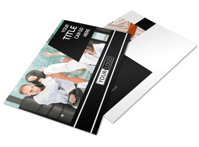 Martial Arts Postcard Template Preview 1