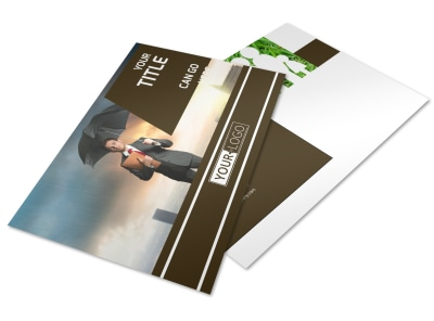 Insurance Agency Postcard Template preview