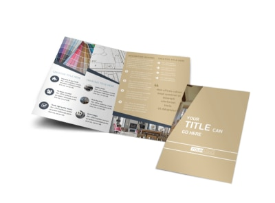 Interior Design Bi-Fold Brochure Template preview