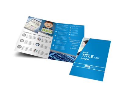 Online Marketing Agency Bi-Fold Brochure Template