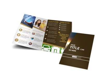 Insurance Agency Bi-Fold Brochure Template