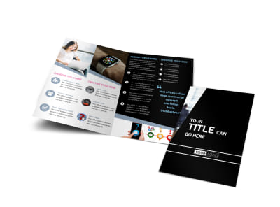 Intellectual Property Firm Bi-Fold Brochure Template preview