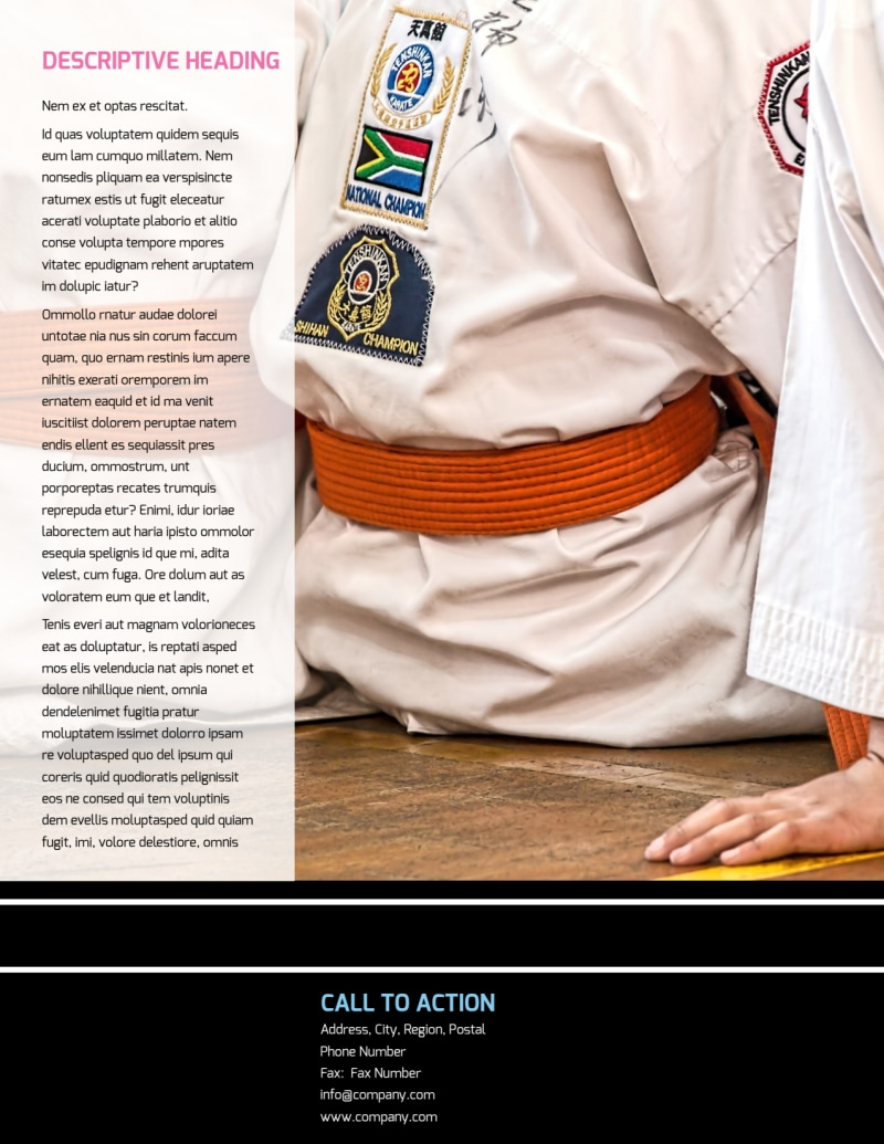 Martial Arts Flyer Template Preview 3