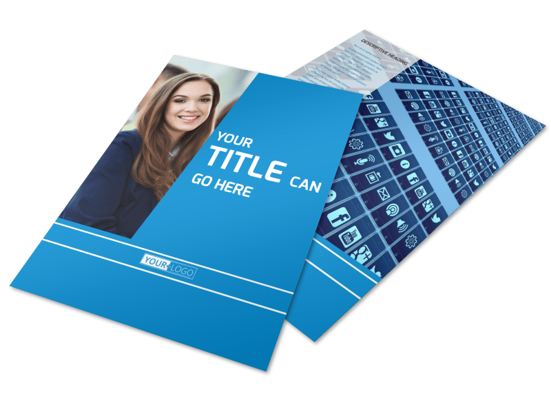 Online Marketing Agency Flyer Template Preview 1