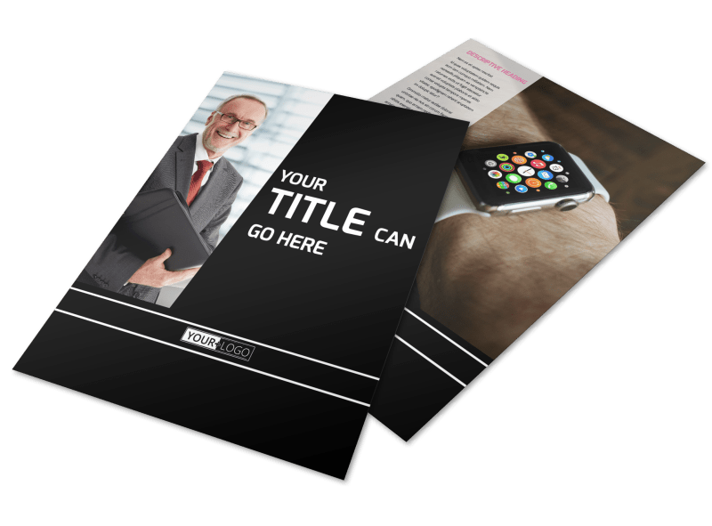 Intellectual Property Firm Flyer Template Preview 1