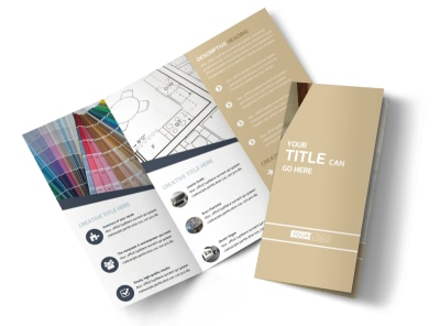 Interior Design Tri-Fold Brochure Template
