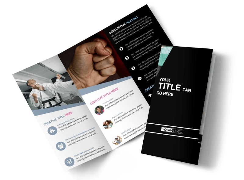 Martial Arts Brochure Template Mycreativeshop