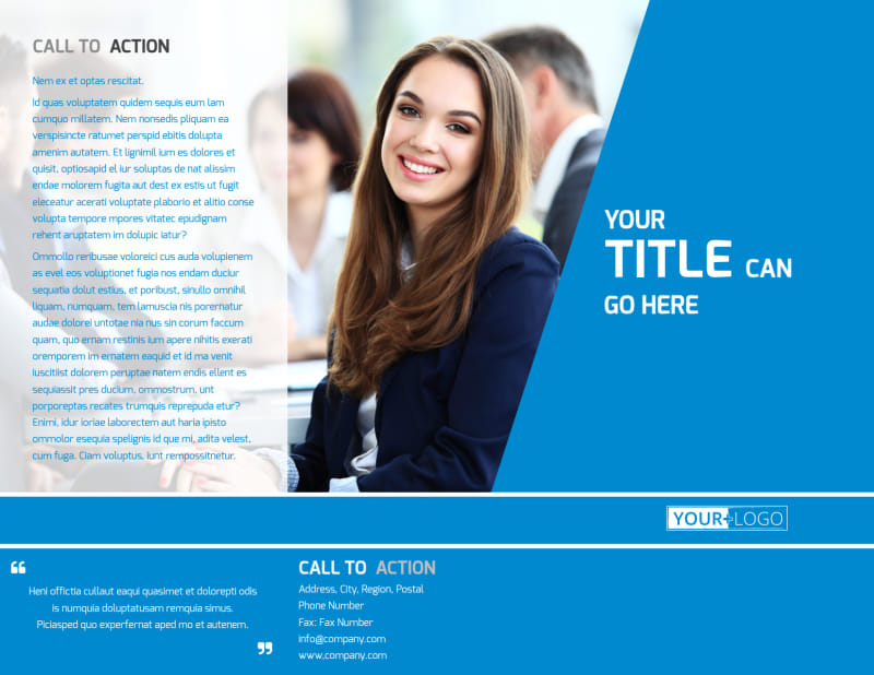 Online Marketing Agency Brochure Template Preview 2