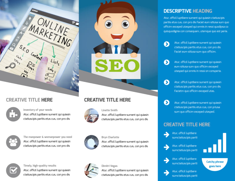 Online Marketing Agency Brochure Template Preview 3