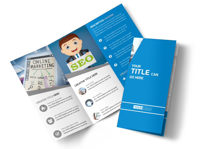 Online Marketing Agency Brochure Template Preview 1