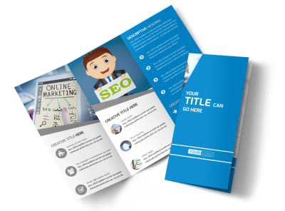 Online Marketing Agency Tri-Fold Brochure Template