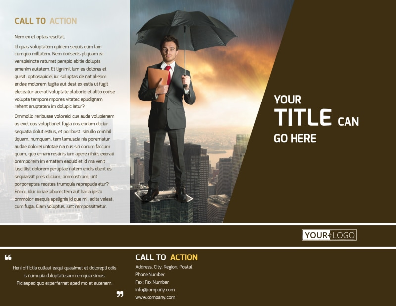 Insurance Agency Brochure Template Preview 2