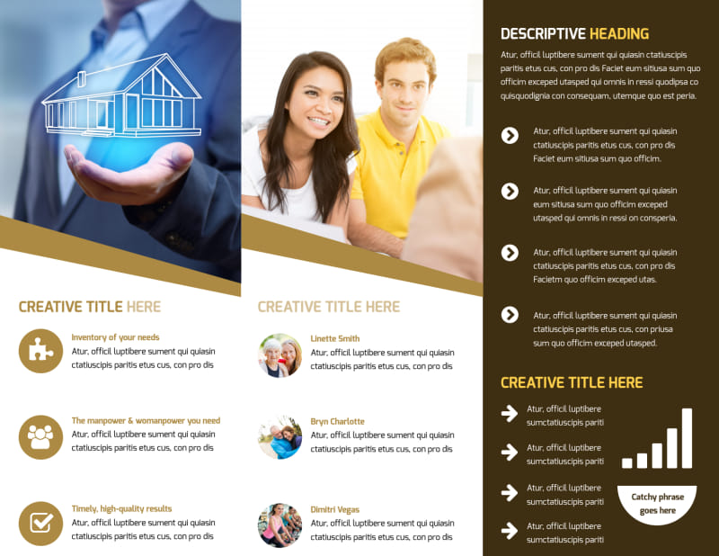 Insurance Agency Brochure Template Preview 3