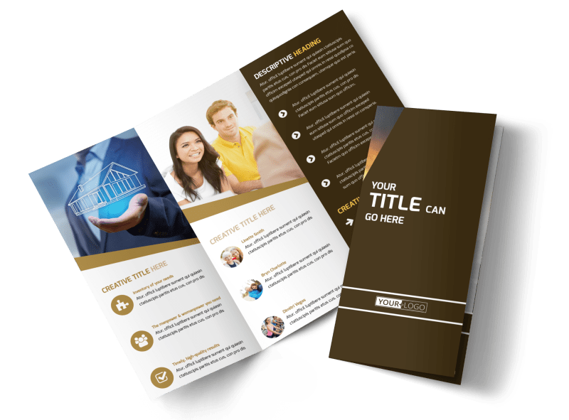 Insurance Agency Brochure Template Preview 1