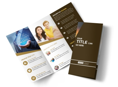 Insurance Agency Tri-Fold Brochure Template
