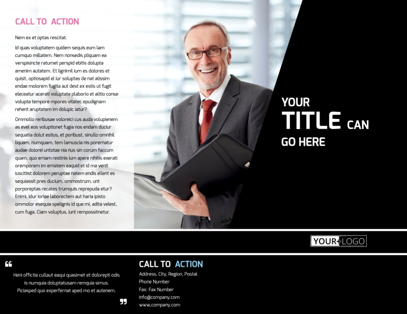 Intellectual Property Firm Brochure Template Preview 2