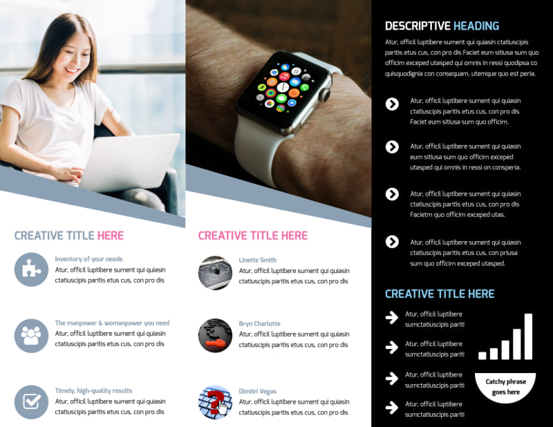 Intellectual Property Firm Brochure Template Preview 3