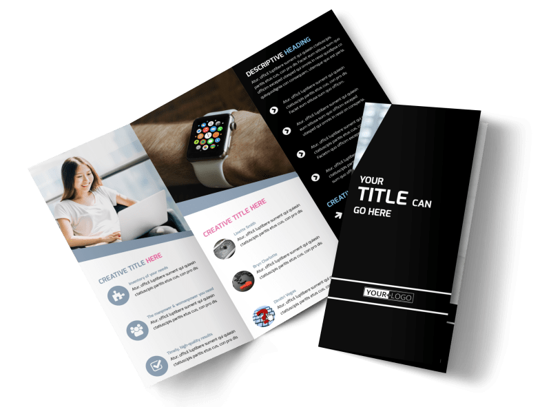 Intellectual Property Firm Brochure Template Preview 1