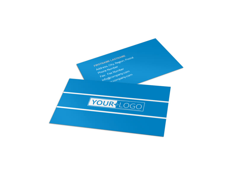 Online marketing agency business card template for Online business card template