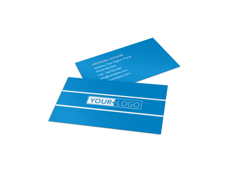Online Marketing Agency Business Card Template Preview 1