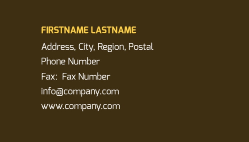 Insurance Agency Business Card Template Preview 3
