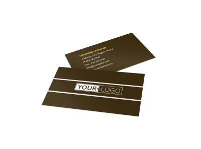 Insurance Agency Business Card Template preview