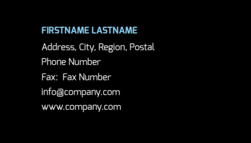 Intellectual Property Firm Business Card Template Preview 3