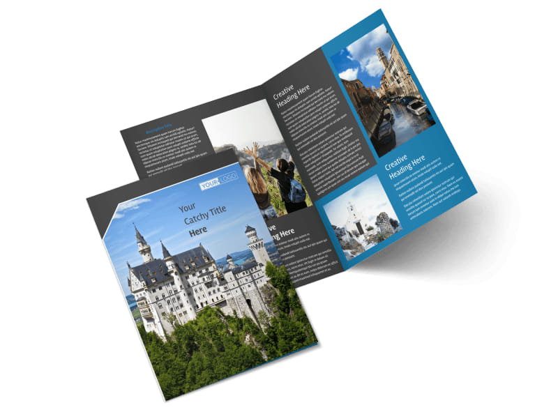 European Travel Agency Bi-Fold Brochure Template 2