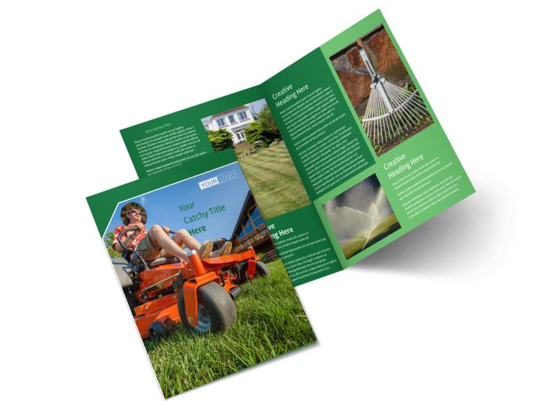 Lawn Care Service Bi-Fold Brochure Template 2