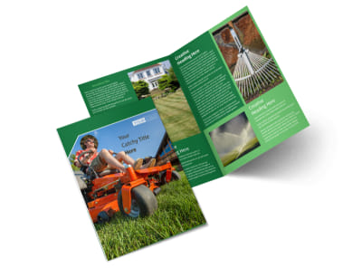 Lawn Care Service Bi-Fold Brochure Template 2 preview