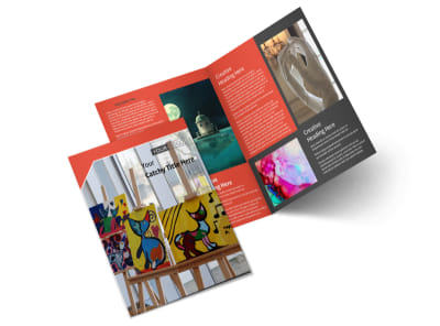 City Art Exhibition Bi-Fold Brochure Template 2