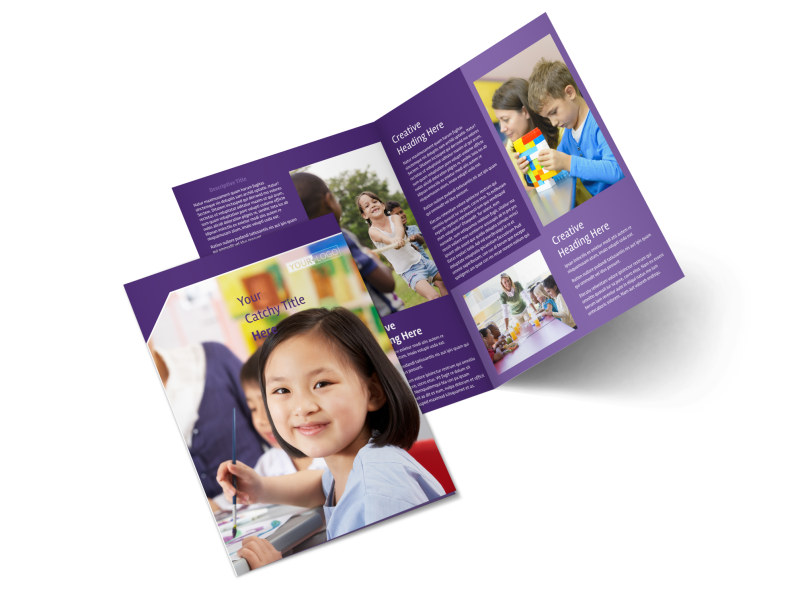Child Care Center Bi-Fold Brochure Template 2