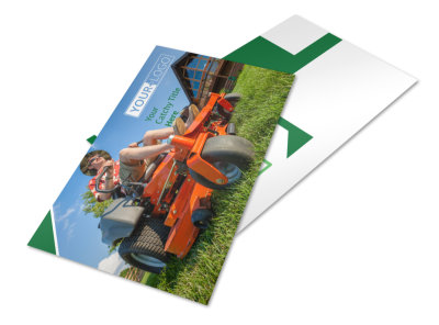 Lawn Care Service Postcard Template 2