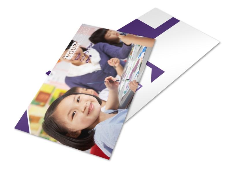 Child Care Center Postcard Template 2