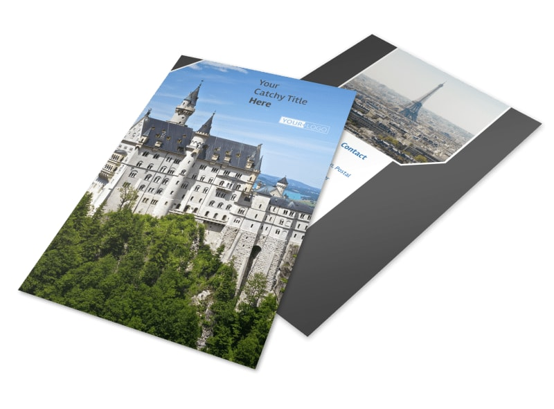 European Travel Agency Flyer Template 3