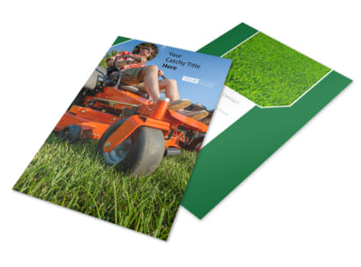 Lawn Care Service Flyer Template 3