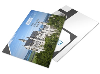 European Travel Agency Postcard Template preview