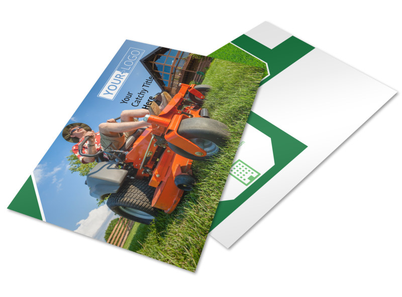 Lawn Care Service Postcard Template