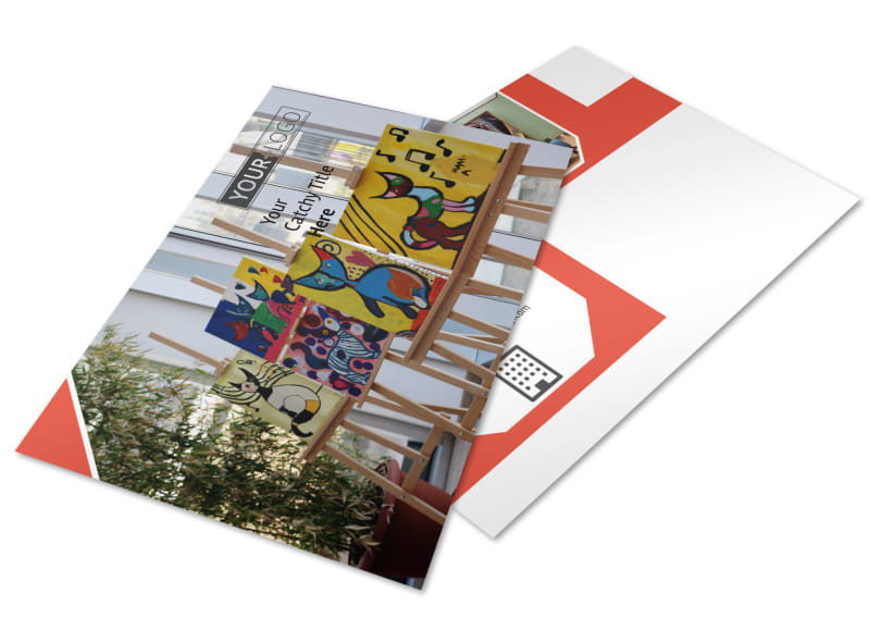 City Art Exhibition Postcard Template Preview 4